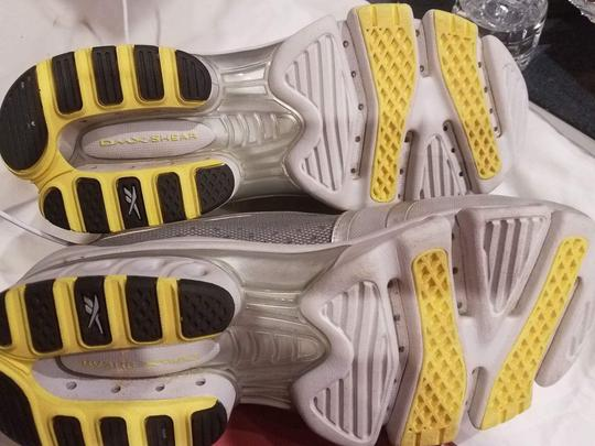 Reebok Sneaker Pump Yellow and Gray Athletic Image 1