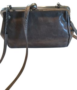 Hobo International Glazed Leather Vintage Leather Kiss Lock Closure Cross Body Bag