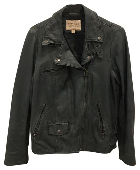 Lucky Brand Gray Leather Jacket Image 0