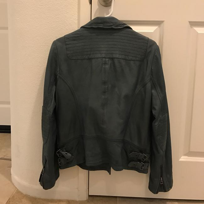 Lucky Brand Gray Leather Jacket Image 1