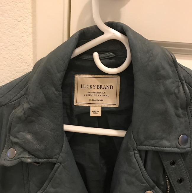 Lucky Brand Gray Leather Jacket Image 2
