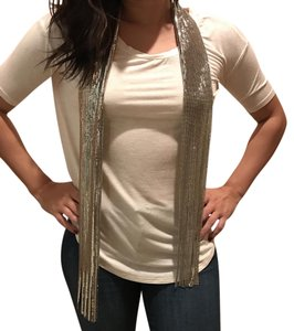 Saks Fifth Avenue Sparkle Chainmail Scarf Silver - a beautiful look