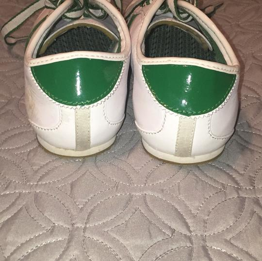 Lcoste Green & White Athletic Image 4