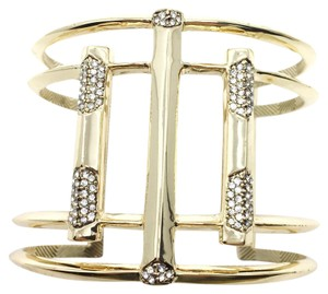 House of Harlow 1960 Defined Deco Statement Pave Geometric Cuff