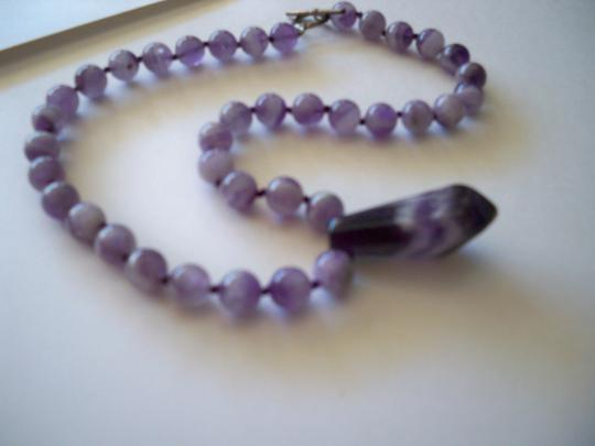Amy's Gem African Amethyst Gemstone Necklace Image 4