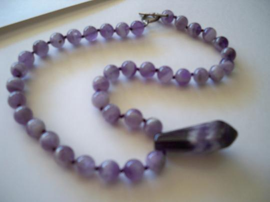 Amy's Gem African Amethyst Gemstone Necklace Image 5