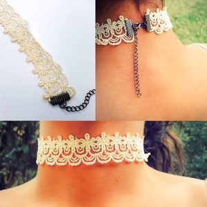 GLLAAM Adorable Choker Cream Lace Trends