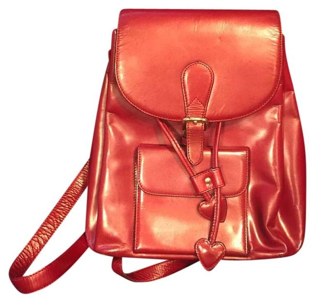 Item - Red Leather Backpack