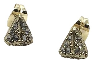 House of Harlow 1960 Pave Triangle Pyramid Stud Earrings Gold