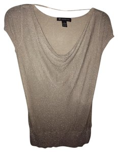 INC International Concepts Lame Cowl Neck Sweater