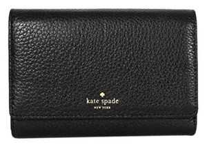 Kate Spade Kate Spade Grey Street Callie Pebbled Leather Wallet Black