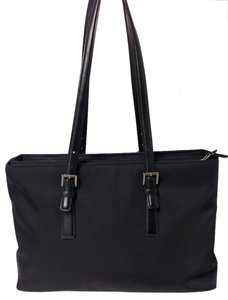 Coach Leather Nylon Large 5419 Tote in Black