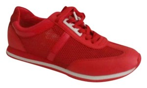 Michael Kors Suede Mesh Patent Leather Coral Reef Athletic