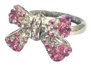 Other Pink crystal bow ring