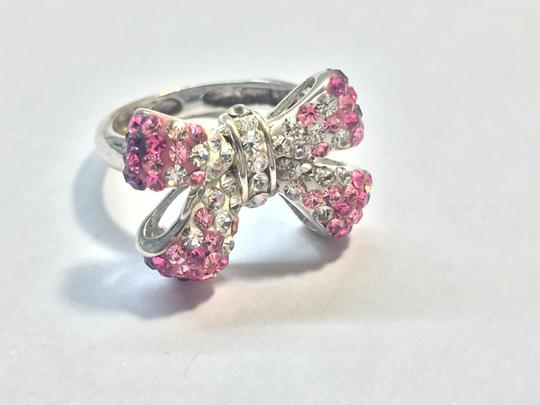 Other Pink crystal bow ring Image 2