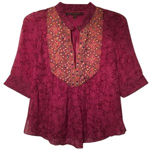 A Common Thread Embroidered Detail Silk Tunic