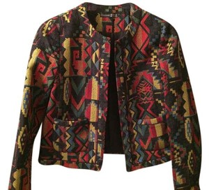 Primark Atmosphere Tribal Ethnic Native Tapestry Black Jacket