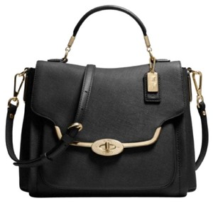 Coach Leather Crossbody Satchel in Black