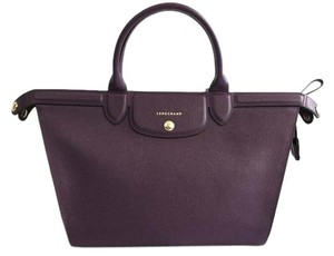 Longchamp Saffiano Satchel in Berry