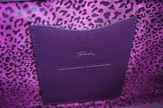 Longchamp Saffiano Satchel in Berry Image 4