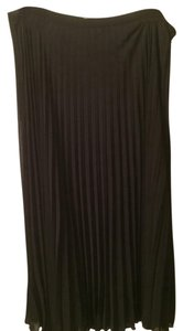 Ellen Tracy Sheer Pleated Skirt black