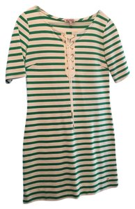Juicy Couture short dress Green/White Stripes on Tradesy