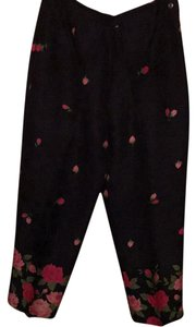 Talbots Straight Pants Floral Silk