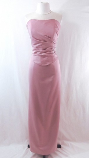Venus Bridal Dusty Rose Satin Style D243 Casual Bridesmaid/Mob Dress Size 14 (L) Image 0
