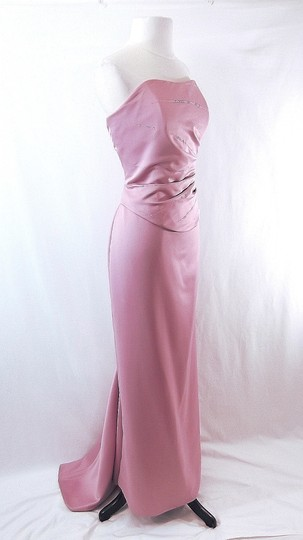 Venus Bridal Dusty Rose Satin Style D243 Casual Bridesmaid/Mob Dress Size 14 (L) Image 3