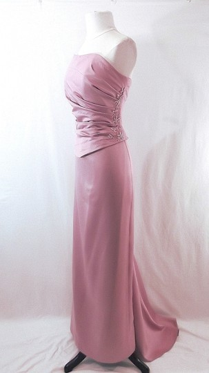 Venus Bridal Dusty Rose Satin Style D243 Casual Bridesmaid/Mob Dress Size 14 (L) Image 5