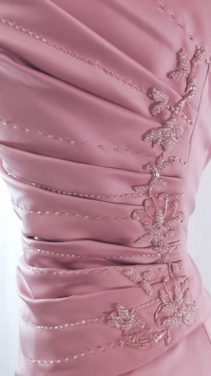 Venus Bridal Dusty Rose Satin Style D243 Casual Bridesmaid/Mob Dress Size 14 (L) Image 7