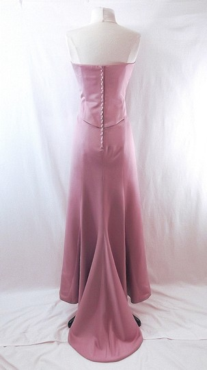 Venus Bridal Dusty Rose Satin Style D243 Casual Bridesmaid/Mob Dress Size 14 (L) Image 9