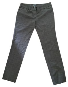 Sharagano Plaid Trouser Pants black and cream houndstooth check with metallic threads