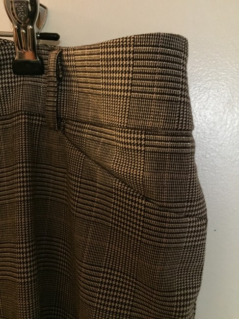 Sharagano Plaid Trouser Pants black and cream houndstooth check with metallic threads Image 6