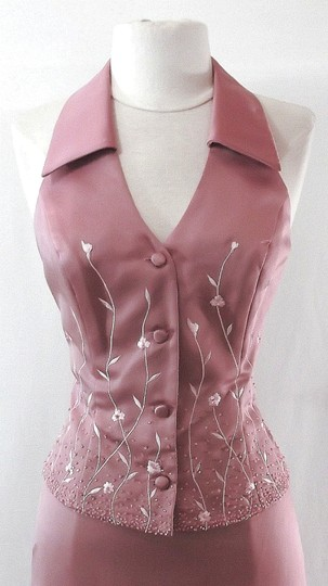Alfred Angelo Dusty Rose Satin Style 6722 Casual Bridesmaid/Mob Dress Size 6 (S) Image 1