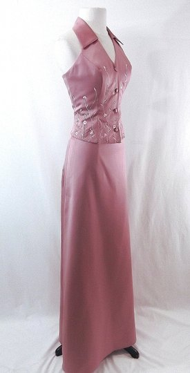 Alfred Angelo Dusty Rose Satin Style 6722 Casual Bridesmaid/Mob Dress Size 6 (S) Image 4