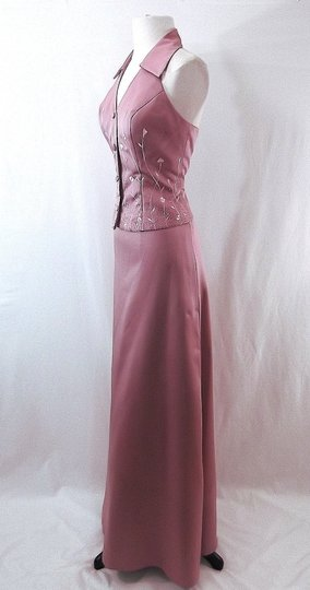 Alfred Angelo Dusty Rose Satin Style 6722 Casual Bridesmaid/Mob Dress Size 6 (S) Image 6