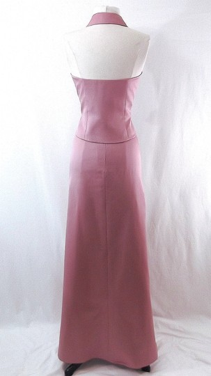 Alfred Angelo Dusty Rose Satin Style 6722 Casual Bridesmaid/Mob Dress Size 6 (S) Image 8
