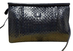 Fendi Vintage Navy Woven Cross Body Bag