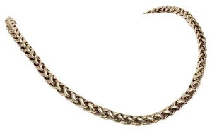 Chico's Chico's Stainless Steel Braided Chain Simple Necklace