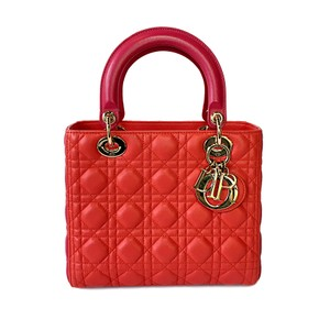 Dior Tote in Duo color pink/pink