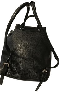 Michael Kors Leather Drawstring Nameplate Backpack