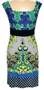 Bailey 44 Silk Shift Sheath Print Dress