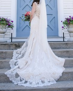 Maggie Sottero Maggie Sottero Melanie In Ivory Over White Gold Wedding Dress