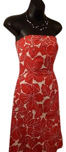 The Limited short dress Red and White on Tradesy