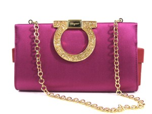 Salvatore Ferragamo Convertible MAGENTA Clutch