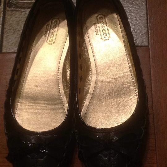 Coach Black leather Flats Image 2