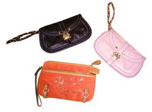 JUICY COUTURE Wristlet in black orange pink