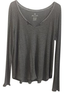 American Eagle Outfitters T Shirt Grey with black stripes
