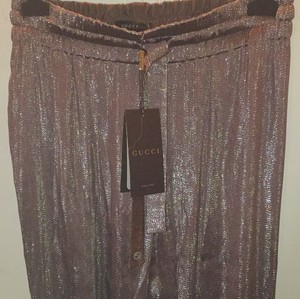 Gucci Capri/Cropped Pants Brown and silver